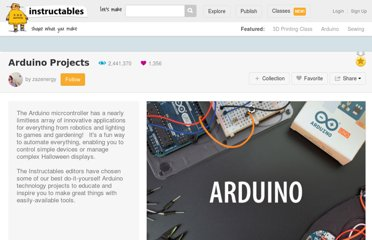 http://www.instructables.com/id/Arduino-Projects/