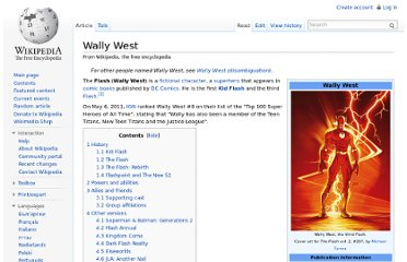http://en.wikipedia.org/wiki/Wally_West