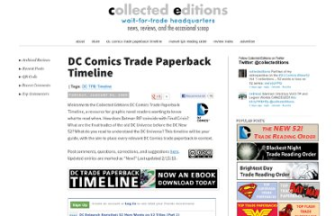 http://collectededitions.blogspot.com/2009/09/dc-trade-paperback-timeline-tpb.html