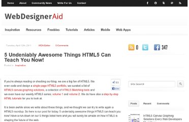 http://webdesigneraid.com/5-undeniably-awesome-things-html5-can-teach-you-now/