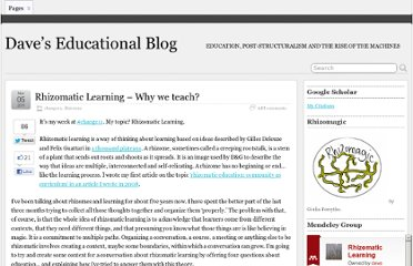http://davecormier.com/edblog/2011/11/05/rhizomatic-learning-why-learn/