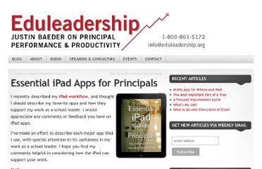 http://www.eduleadership.org/2010/09/01/essential-ipad-apps-for-principals/