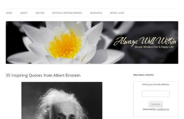 http://alwayswellwithin.com/2011/11/03/37-inspiring-quotes-from-albert-einstein/
