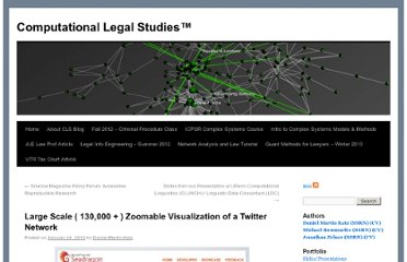 http://computationallegalstudies.com/2010/01/24/large-scale-130000-zoomable-visualization-of-a-twitter-network/