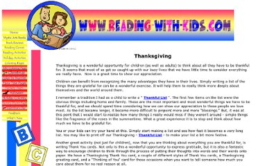http://www.reading-with-kids.com/thanksgiving.html