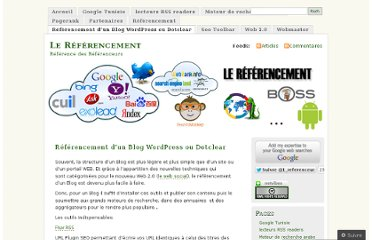 http://referenceur.wordpress.com/referencement-dun-blog-wordpress-ou-dotclear/