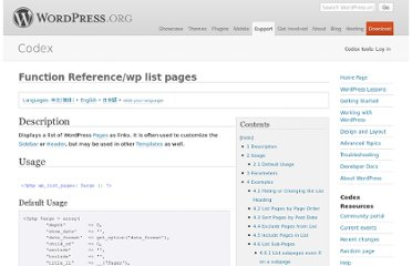 http://codex.wordpress.org/Function_Reference/wp_list_pages