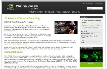 http://developer.nvidia.com/3d-vision-and-surround-technology