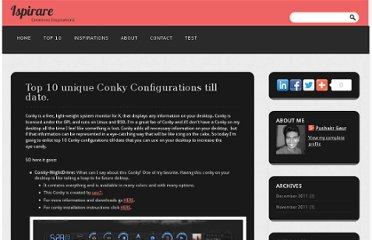 http://gorgod.blogspot.com/2011/11/top-10-unique-conky-configurations-till.html