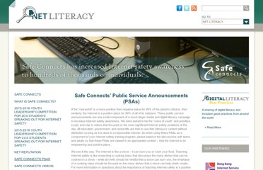 http://www.netliteracy.org/safe-connects/safe-connects-psas/