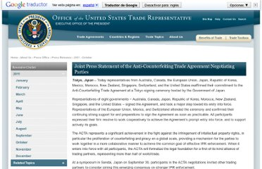 http://www.ustr.gov/about-us/press-office/press-releases/2011/october/joint-press-statement-anti-counterfeiting-trade-ag