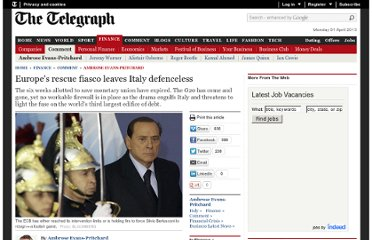 http://www.telegraph.co.uk/finance/comment/ambroseevans_pritchard/8873041/Europes-rescue-fiasco-leaves-Italy-defenceless.html