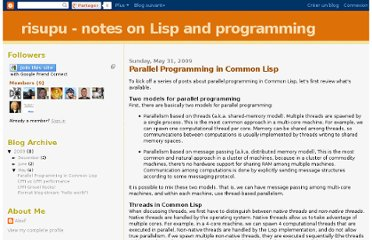 http://risupu.blogspot.com/2009/05/parallel-programming-in-common-lisp.html