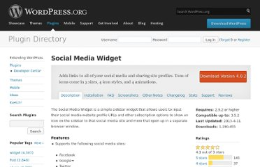 http://wordpress.org/extend/plugins/social-media-widget/