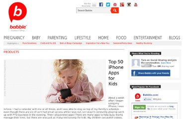 http://www.babble.com/mom/parenting-top-50/50-best-iphone-apps-for-kids-stories-and-songs/