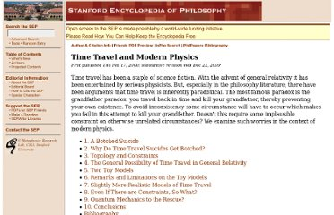 http://plato.stanford.edu/entries/time-travel-phys/