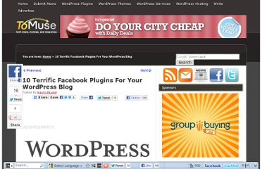 http://tomuse.com/wordpress-facebook-plugin/