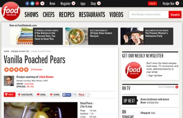 http://www.foodnetwork.com/recipes/alton-brown/vanilla-poached-pears-recipe/index.html