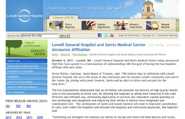 http://www.lowellgeneral.org/press-releases/lowell-general-hospital-and-saints-medical-center-announce-affiliation