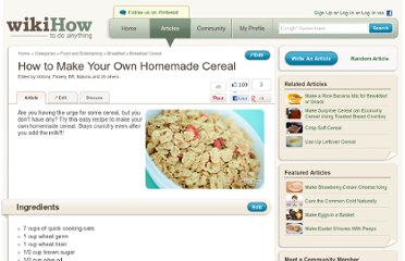 http://www.wikihow.com/Make-Your-Own-Homemade-Cereal