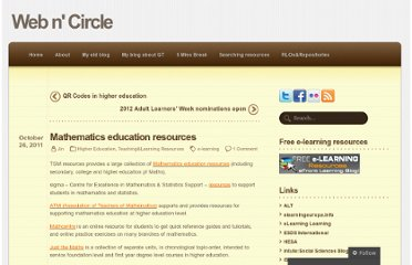 http://webncircle.wordpress.com/2011/10/26/mathematics-education-resources/