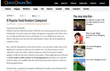 http://www.quickonlinetips.com/archives/2009/08/popular-feed-readers/