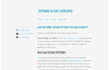 http://softwareas.com/ajax-patterns
