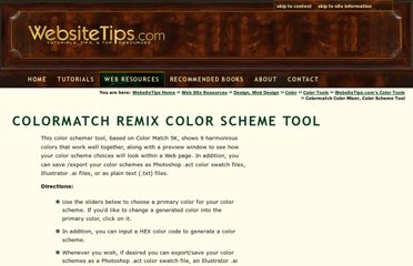 http://websitetips.com/colortools/colormatch/