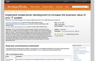 http://www.ibm.com/developerworks/library/ar-mdd1/