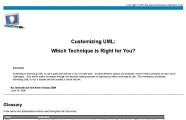 http://www.eclipse.org/modeling/mdt/uml2/docs/articles/Customizing_UML2_Which_Technique_is_Right_For_You/article.html