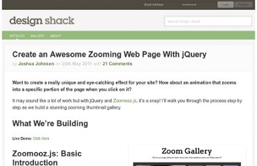 http://designshack.net/articles/javascript/create-an-awesome-zooming-web-page-with-jquery/