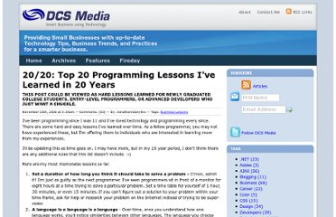 http://www.dcs-media.com/Archive/20-20-top-20-programming-lessons-ive-learned-in-20-years-FI