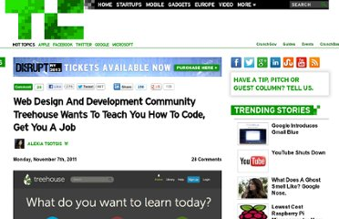 http://techcrunch.com/2011/11/07/web-design-and-development-community-treehouse-wants-to-teach-you-how-to-code-get-you-a-job/