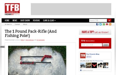 http://www.thefirearmblog.com/blog/2011/11/04/the-1-pound-pack-rifle-and-fishing-pole/
