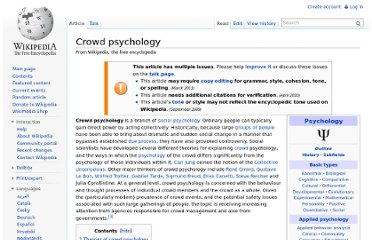 http://en.wikipedia.org/wiki/Crowd_psychology