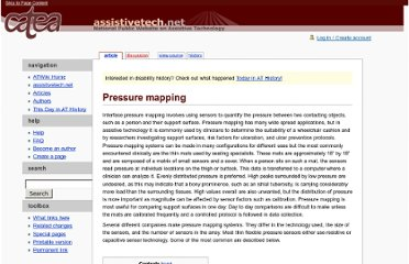 http://atwiki.assistivetech.net/index.php/Pressure_mapping
