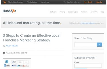 http://blog.hubspot.com/blog/tabid/6307/bid/28437/3-Steps-to-Create-an-Effective-Local-Franchise-Marketing-Strategy.aspx