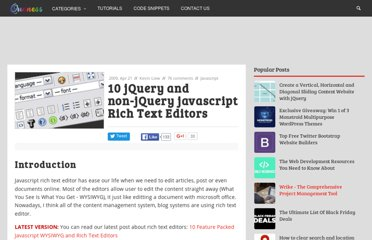 http://www.queness.com/post/212/10-jquery-and-non-jquery-javascript-rich-text-editors