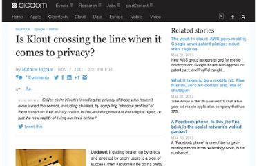http://gigaom.com/2011/11/07/is-klout-crossing-the-line-when-it-comes-to-privacy/