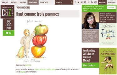 http://chocolateandzucchini.com/archives/cat_french_idioms.php