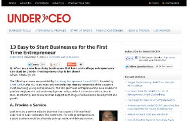 http://under30ceo.com/13-easy-to-start-businesses-for-the-first-time-entrepreneur/