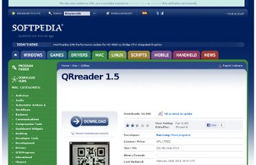 http://mac.softpedia.com/get/Business/QRreader.shtml