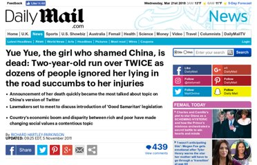 http://www.dailymail.co.uk/news/article-2051679/Yue-Yue-dead-Chinese-girl-Wang-Yue-2-run-bystanders-watch-dies.html