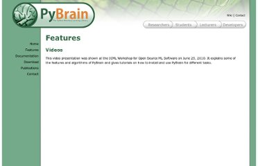 http://pybrain.org/pages/features