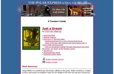 http://www.houghtonmifflinbooks.com/features/thepolarexpress/tg/dream.shtml
