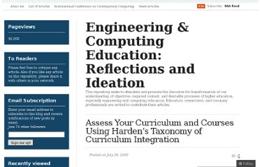 http://goelsan.wordpress.com/2010/07/28/hardens-taxonomy-of-curriculum-integratiion/