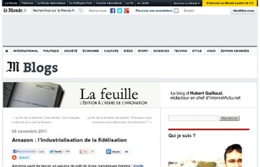http://lafeuille.blog.lemonde.fr/2011/11/08/amazon-lindustrialisation-de-la-fidelisation/
