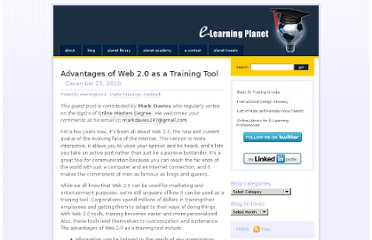 http://elearningplanet.com/2010/12/advantages-of-web-2-0-as-a-training-tool/