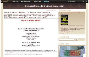 http://democratie-reelle-nimes.over-blog.com/article-lettre-d-attac-nimes-du-sud-au-nord-dette-et-austerite-quelles-alternatives-conference-debat-88295679.html