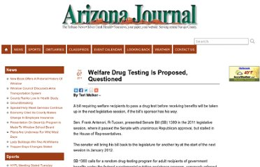 http://www.azjournal.com/2011/10/07/welfare-drug-testing-is-proposed-questioned/
